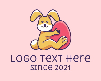 Big - Big Easter Bunny Egg logo design