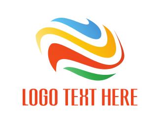 Artistic - Colorful Waves logo design