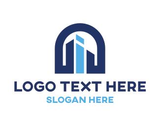 Letter - Letter I Building logo design