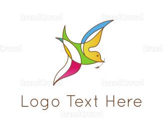 Colibri - Colorful Bird logo design