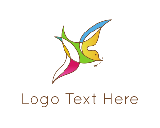 Religion - Colorful Bird logo design