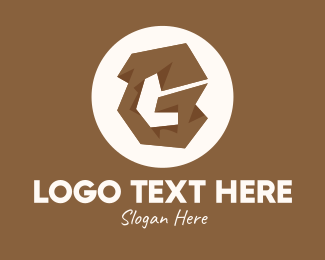 Indigenous - Brown Letter G logo design