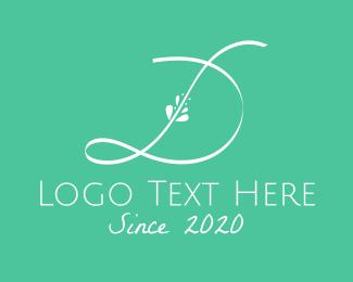 Letter D - Floral Letter D logo design