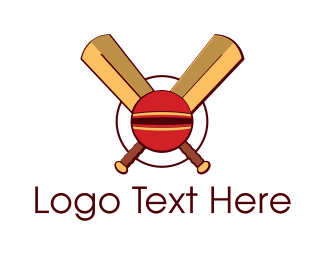 League - Cricket Ball logo design