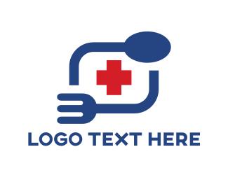 Spoon - Hospital Food logo design
