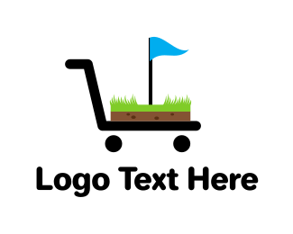 Court - Golf Cart Flag logo design