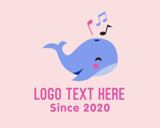 Music Lessons - Whale Music Sounds logo design