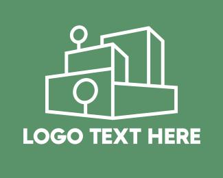 Architect - Stacked Blocks Outline logo design