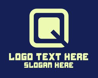 Digital Cube Letter Q Logo