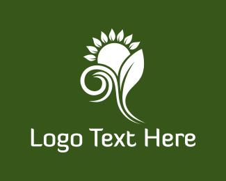 Wind - White Sunflower logo design