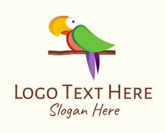Tropic - Vibrant Colorful Parrot logo design