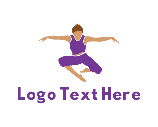 Karate - Prancing Man logo design