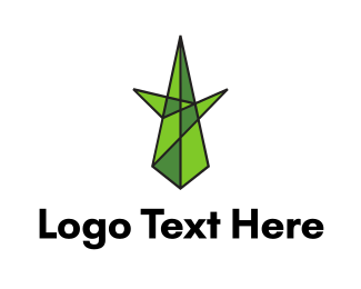 Burning Man - Minimalist Geometric Tree logo design