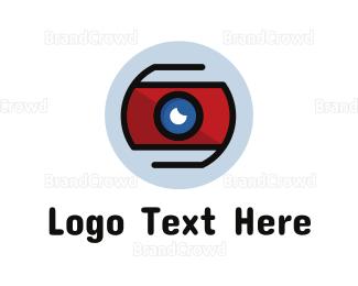 Binoculars - Modern Surveillance Camera  logo design