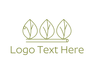 Minimalist Green Leaves Logo