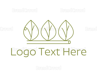 Gardening - Minimalist Green Leaves logo design