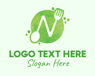 """Food Spoon Fork Restaurant Letter N"" by MusiqueDesign"