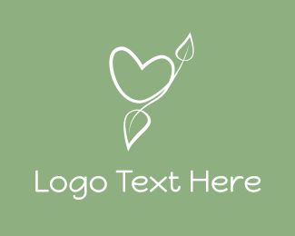 Twig - Eco Heart logo design