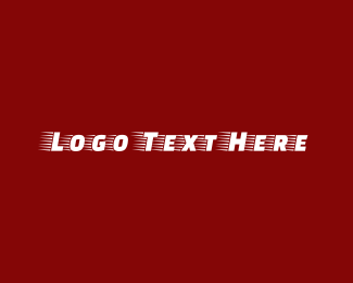 Full Speed - Red Fast & Fitness Text Font logo design