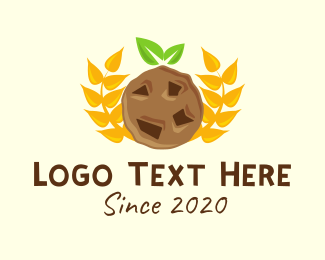 Healthy Food - Wheat Choco Chip Cookie logo design
