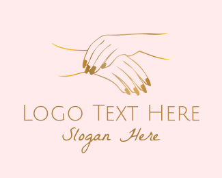 Golden - Golden Hands logo design