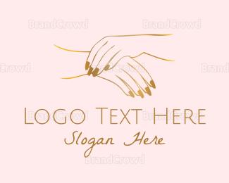 Hand - Golden Hands logo design