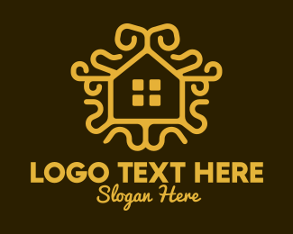 Bungalow - Ornamental Real Estate logo design
