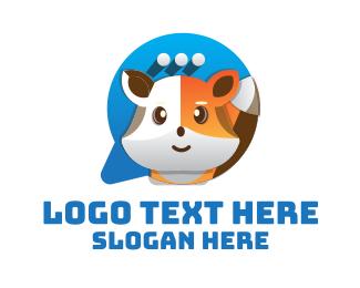 Messenger - Cute Fox Chat logo design