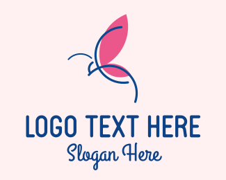 Fashion Accesories - Elegant Butterfly Outline logo design