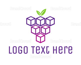 Blackberry - Cube Grapes logo design