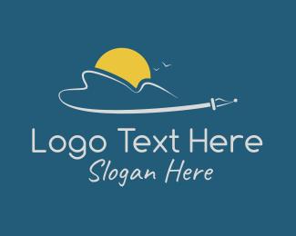 Writing - Flying Pen logo design