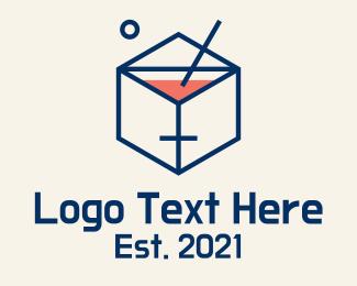 Cubic - Cocktail Cube logo design