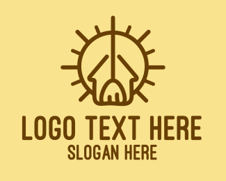 Janitor - Sun House Broomstick logo design