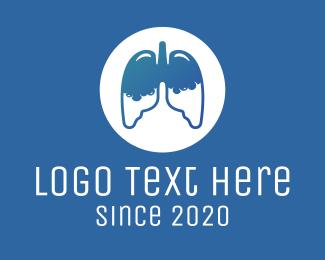 Lung Cancer - Respiratory Lung Disease logo design