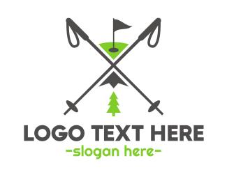 Snowboarding - Golf & Ski logo design