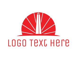 Dc - Red Obelisk  logo design
