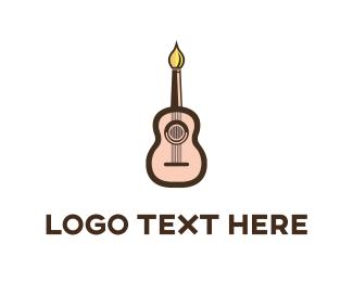 Paintbrush - Guitar Artist logo design