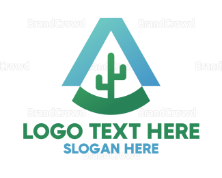 Cactus - Industrial Cactus A logo design