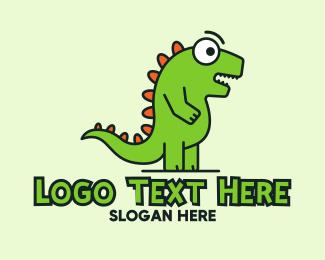 Playhouse - Cute Cartoon Dino logo design
