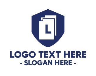 Document - Document Shield logo design