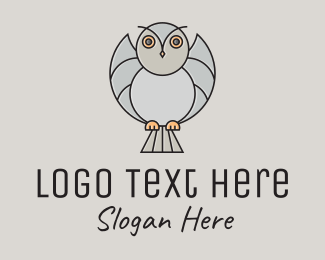 Cartoon - Flying Owl Cartoon logo design
