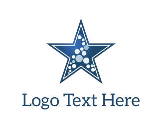Laundry Service - Star & Dots logo design