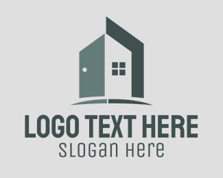 Open - Doorway Realty House logo design