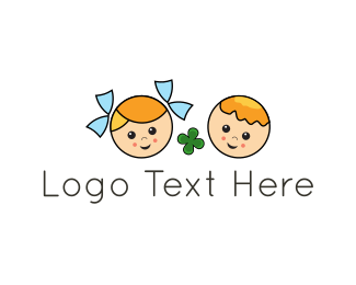 Clover - Lucky Kids logo design