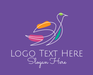 Wellness Center - Flying Bird Minimalist  logo design