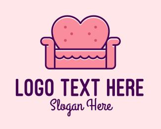 Living Room - Loveseat Love Couch logo design