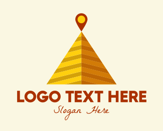 Giza - Desert Pyramid Location logo design
