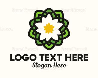 India -  Pond Lotus logo design