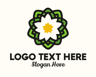 Asia - Pond Lotus Flower logo design