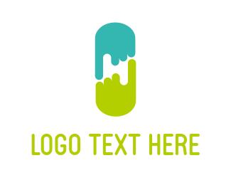 Finger - Point & Capsule logo design
